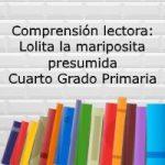 Comprensión lectora: Lolita la mariposita presumida – Cuarto grado primaria